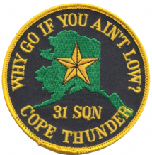 No. 31 Squadron RAF Exercise Cope Thunder Eielson AFB Alaska Embroidered Patch
